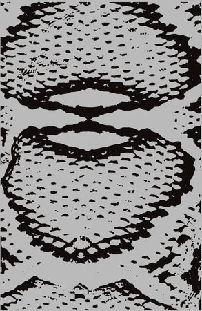 white snake: snake skin print Illustration