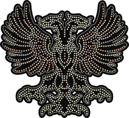 eagle beaded artwork Vector