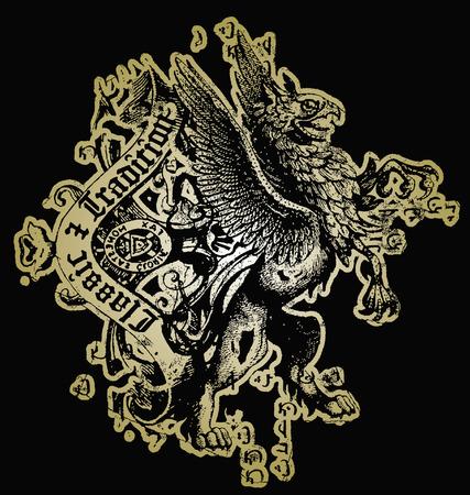 mythologie: Crest klassisches design Illustration