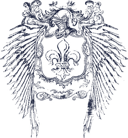 fleur: roman helmet shield design