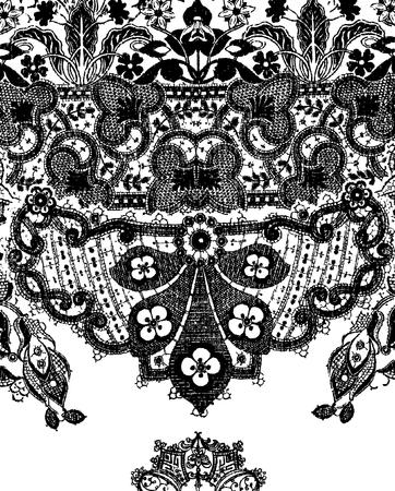 motif cachemire: detailed paisley style background illustration Illustration
