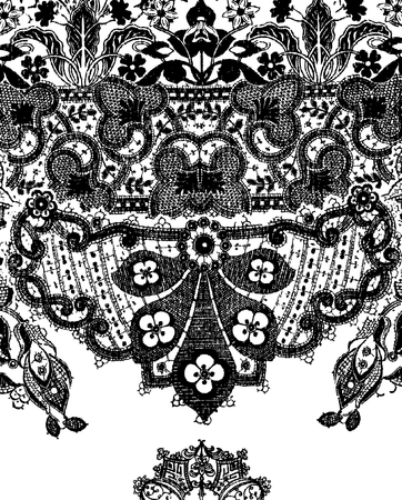 paisley: szczegółowe paisley styl tła rysunku Ilustracja