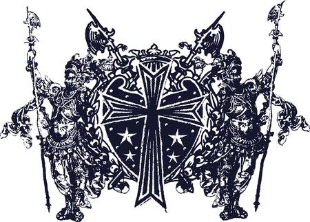 medieval art design Vector