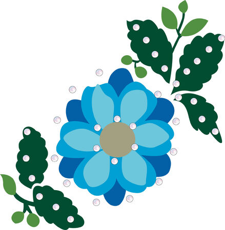 beautiful flower graphic design illustration Vector