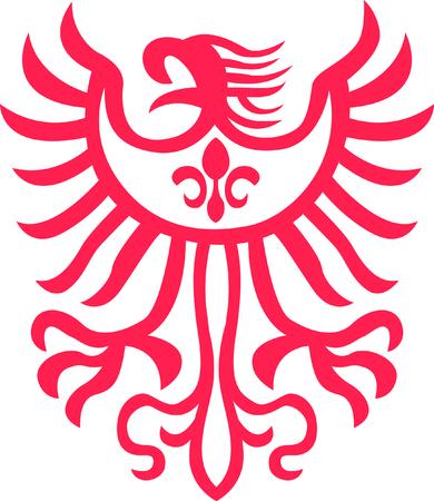 símbolo de águila tribales Ilustración de vector