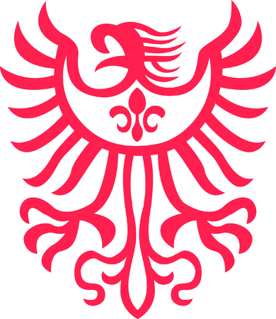 tribal eagle symbol Vector