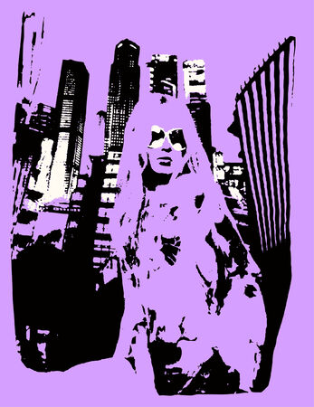 buiness woman in the city Vector