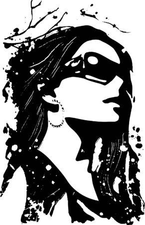 fancy woman poster Illustration