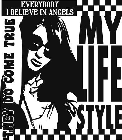 modern fashion woman poster Vector