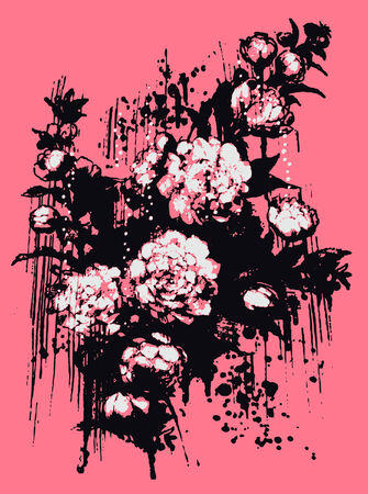 artistic flower illustration Vector