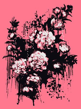 artistic flower illustration Illustration