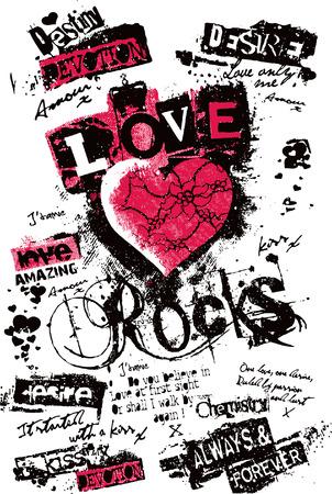 heart poster design Illustration