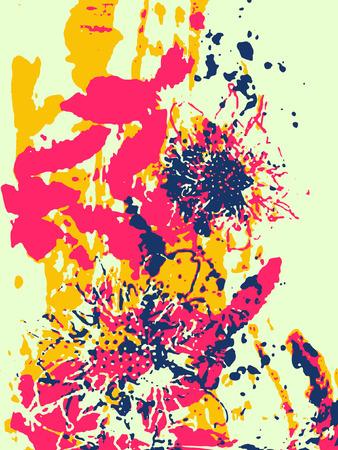 clipart wrinkles: artistic flower illustration Illustration