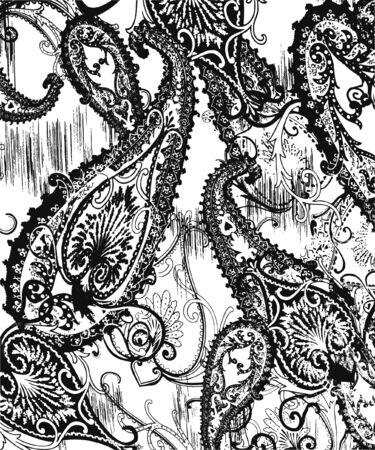 disegno cachemire: sfondo di cachemire indiano  Vettoriali