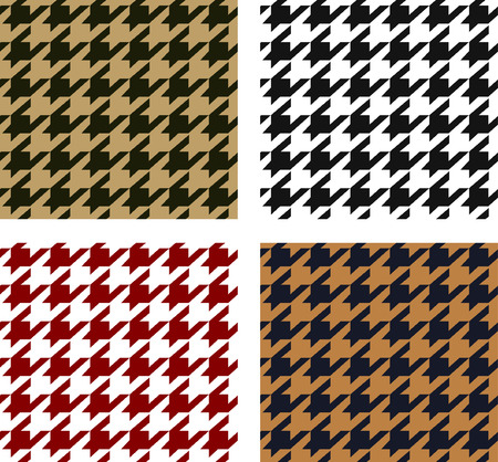 fabric swatch: seamless houndstooth pattern