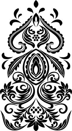 classic scroll floral emblem Vector