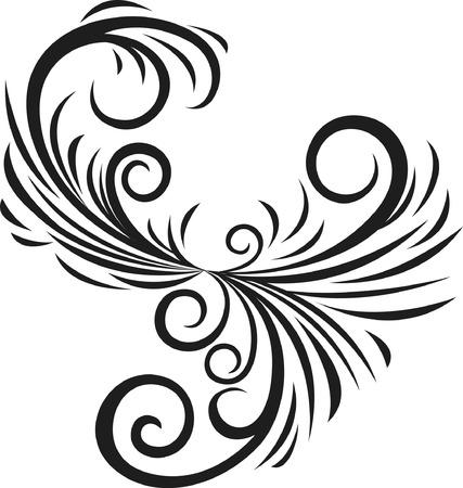 fancy scroll ornament Illustration