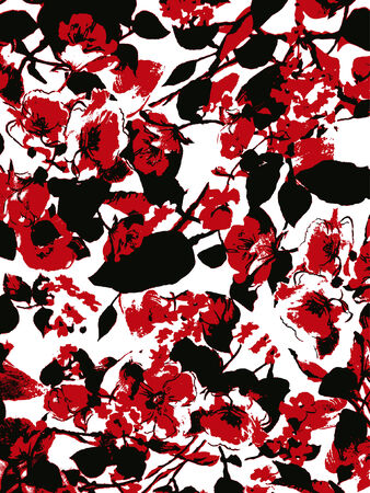 floral background texture Vector