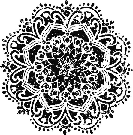 floral emblem design Vector
