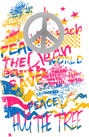 banner of peace: peace graffiti art banner