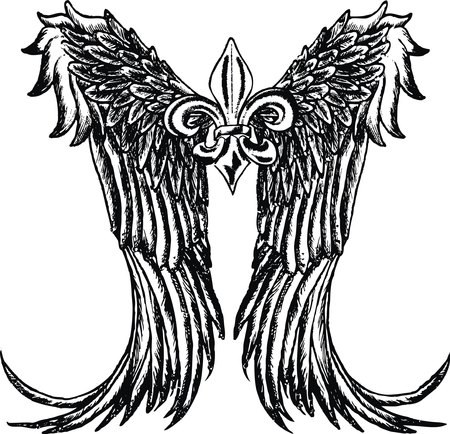 medieval banner: tribal wing design