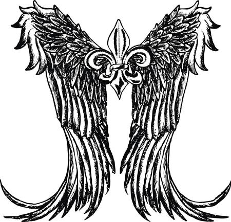 fleur: tribal wing design