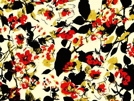 vintage flower paper texture