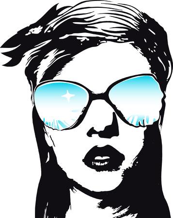 sunglasses: Ilustraci�n de la mujer