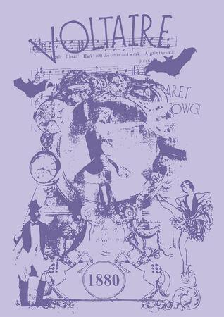 victorian pop art poster  Vector