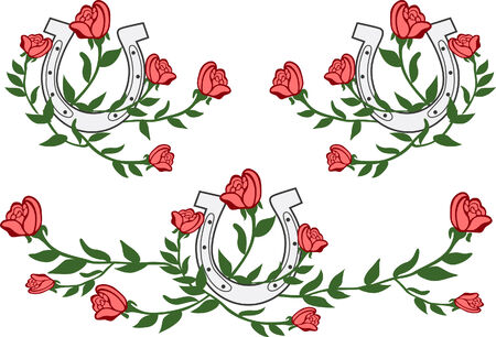 southwest: rose embroidery design Illustration