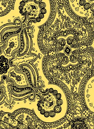 magnificence: paisley illustration Illustration