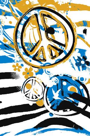 diseño de póster de paz