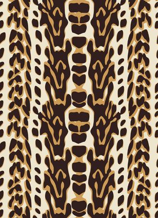 couleur de peau: seamless peau animale Illustration