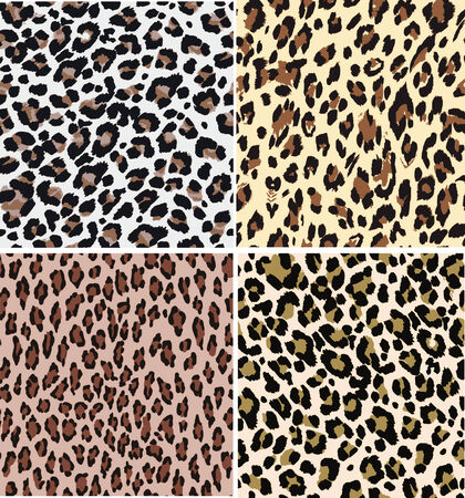 seamless fashion leopard fabric pattern Vector