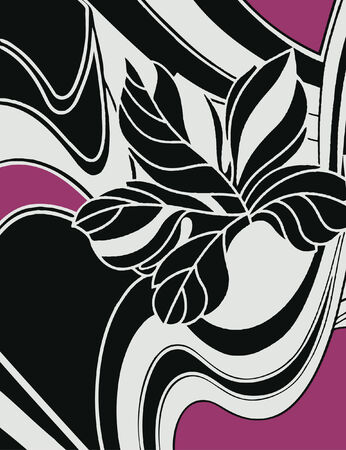 flower with abstract backdrop design Vector