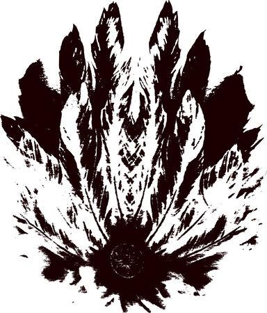 clip art wheat: feather design Illustration
