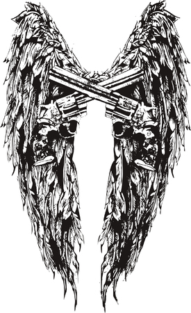 wing and gun Illustration