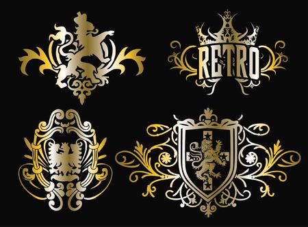 classic crest shiled emblem design Vector