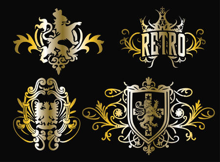 classic crest shiled emblem design