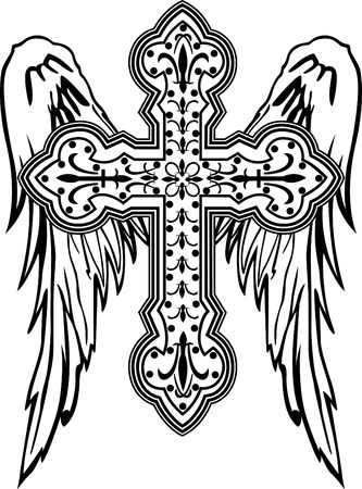 classic cross with ornamental decoration