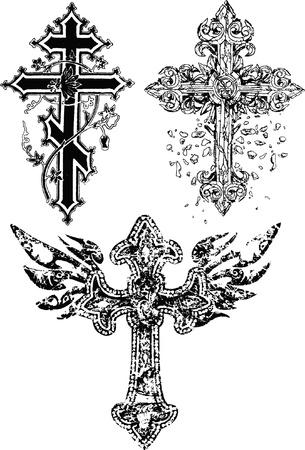 stylish cross  Illustration