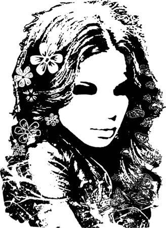 beautiful lady drawing