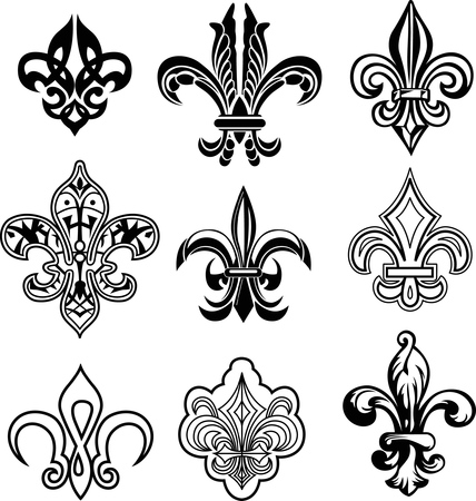 fleur de lys set Illustration