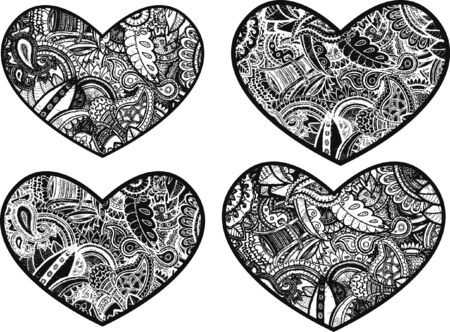 stock clip art icon: doodle heart design Illustration