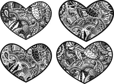 stock clip art icon: doodle heart design Illustration