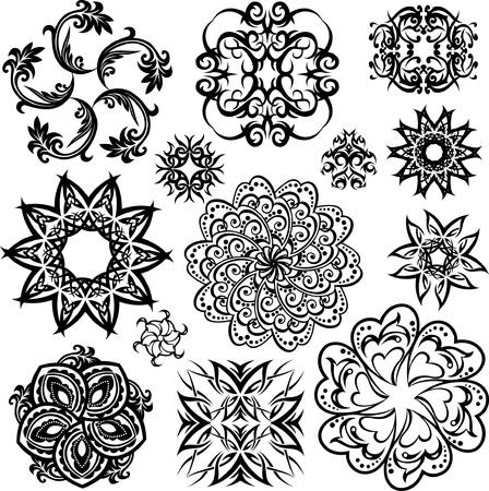 floral circular pattern Stock Vector - 9468953