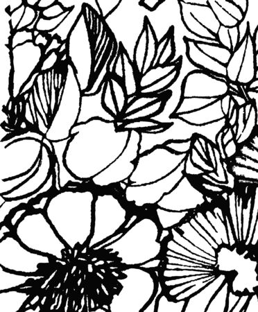 flower background pattern design