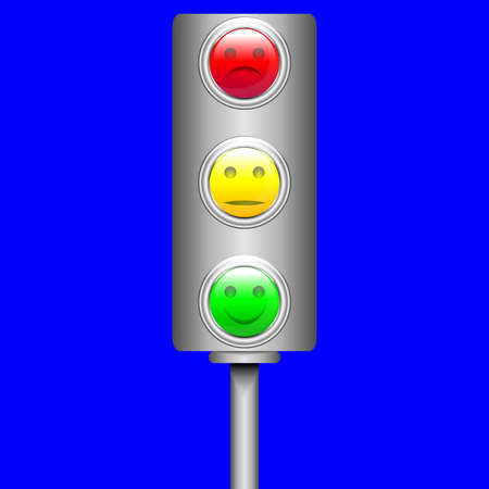 Traffic light  Vector Vector