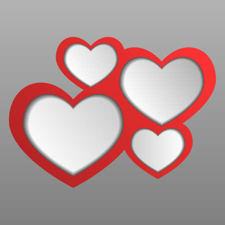 Abstract web design hearts 2  Vector Illustration