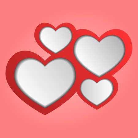 Abstract web design hearts  Vector Illustration